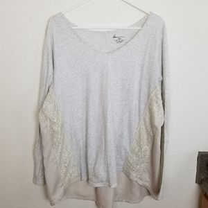 Lane Bryant| long sleeve with lace detailing
